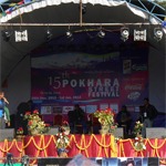 Celebrating 15th Street festival in Lakeside Pokhara of Nepal .